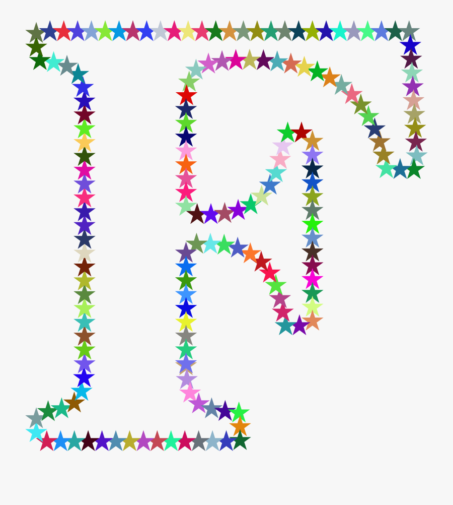 F Stars Clip Arts - Letter P With Stars, Transparent Clipart