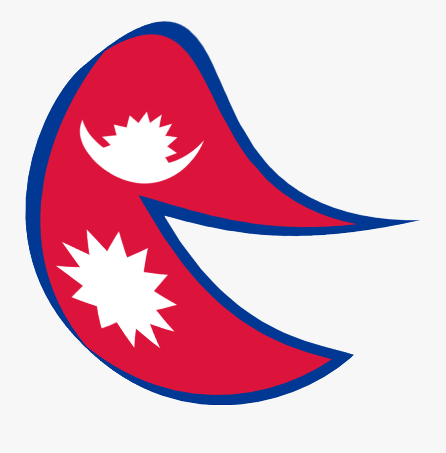 """Flag Of Nepal, But It""""s A Circle And It Looks Also - Nepal Flag Transparent, Transparent Clipart"""