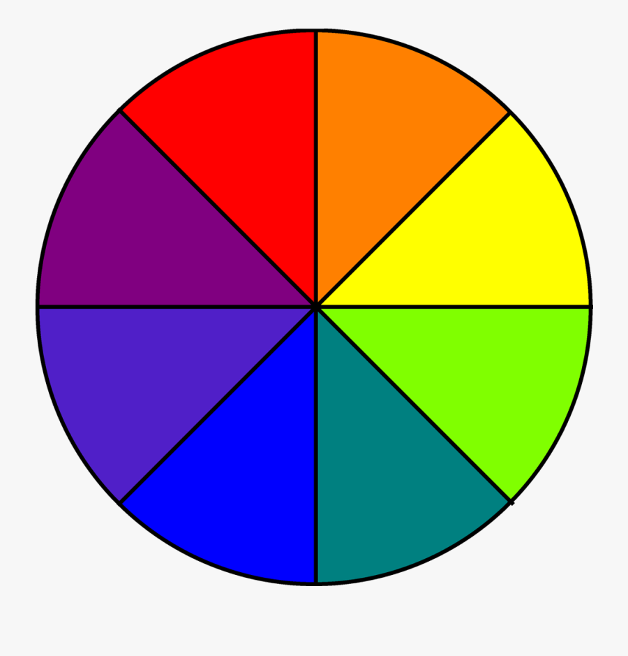 Colors Clipart Color Wheel - Color Wheel 8 Parts, Transparent Clipart