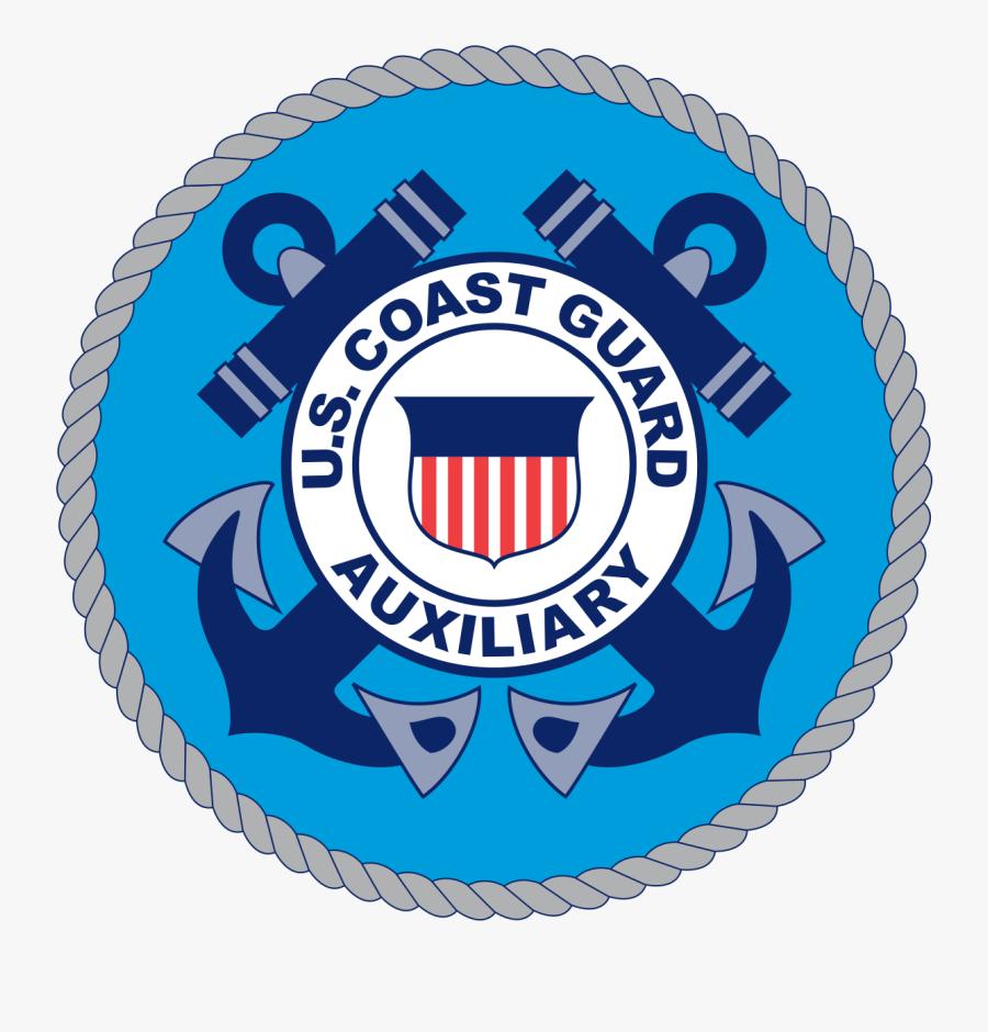 Coast Guard Auxiliary Seal, Transparent Clipart