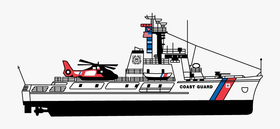 Clip Art Coast Guard Cutter, Transparent Clipart