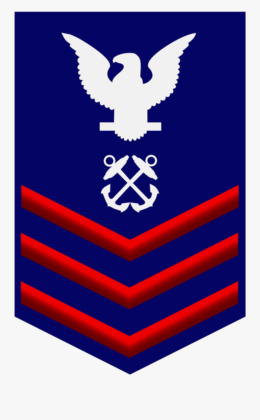 Transparent Coast Guard Clipart - Us Navy Rank E 5, Transparent Clipart