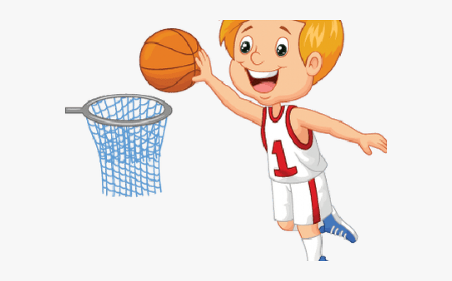 Kids Playing Basketball Clipart - Boy Play Basketball Clipart, Transparent Clipart