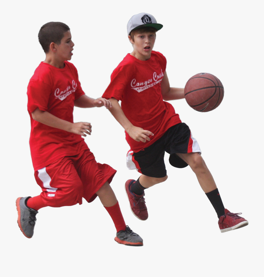 Children Playing Basketball Png, Transparent Clipart