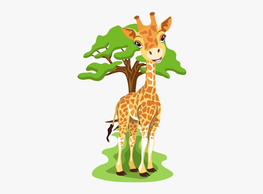 Cartoon Animals Jungle Giraffe, Transparent Clipart