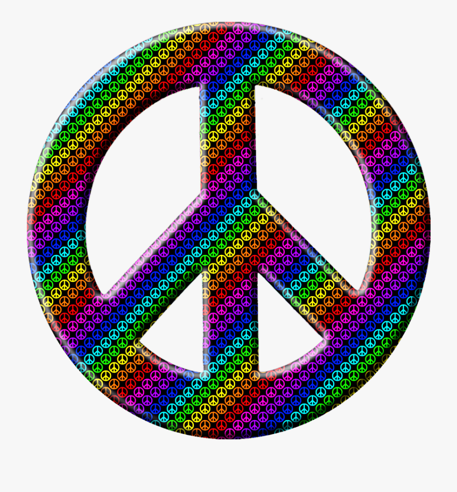 Peace Sign Peace Hippy Png Image - Peace Symbol Tattoo All Black, Transparent Clipart