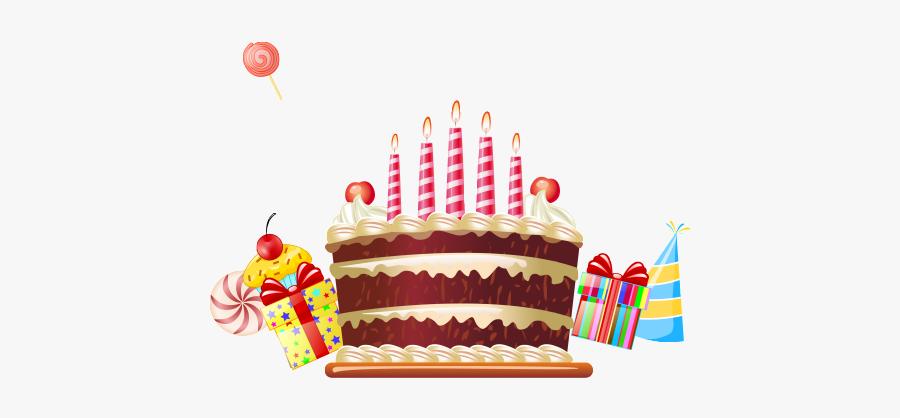 Clip Art Drawn Cartoon Birthday Cake - Free Vector Birthday, Transparent Clipart