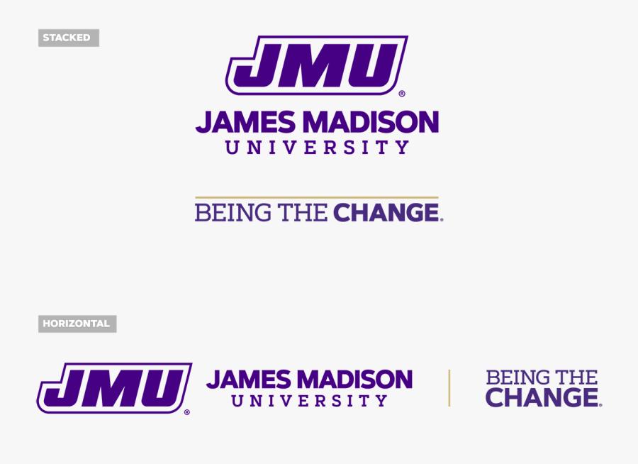 Logo With Btc Mark - James Madison Long Horizontal White, Transparent Clipart