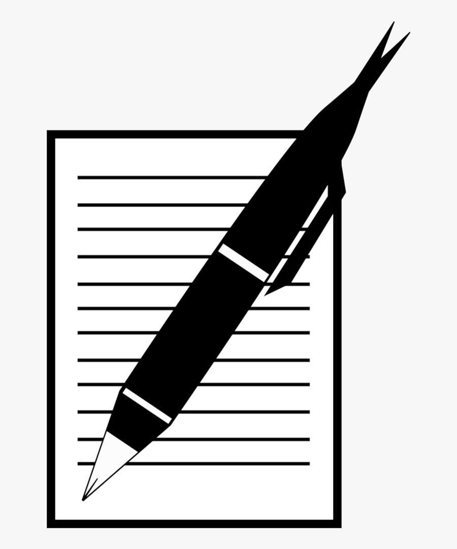 Pencil And Paper Paperwritepen Pen Clipart Free Images - Animated Paper And Pen, Transparent Clipart