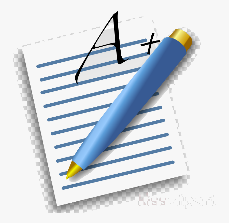 Pencil And Paper Pen Writing On Clipart Floss Papers - Paper And Pen Png, Transparent Clipart
