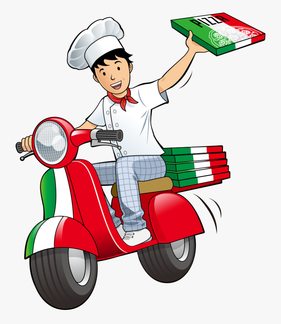Take-out Restaurant Deliveryman Delivery Vector Pizza - Pizza Delivery Man Png, Transparent Clipart