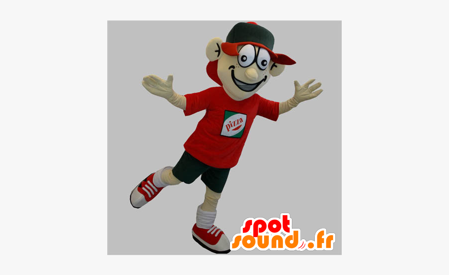 Clip Art Pizza Delivery Costume - Delivery Mascot, Transparent Clipart