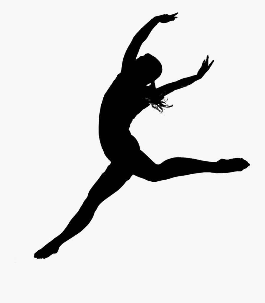 Modern Dance Ballet Jazz Dance Silhouette - Contemporary Dances Transparent Background, Transparent Clipart