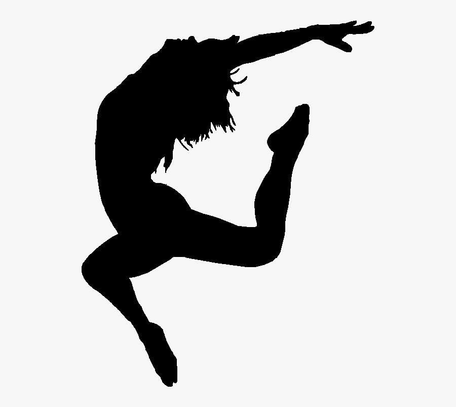 Danse1 - Silhouette Contemporary Dance, Transparent Clipart
