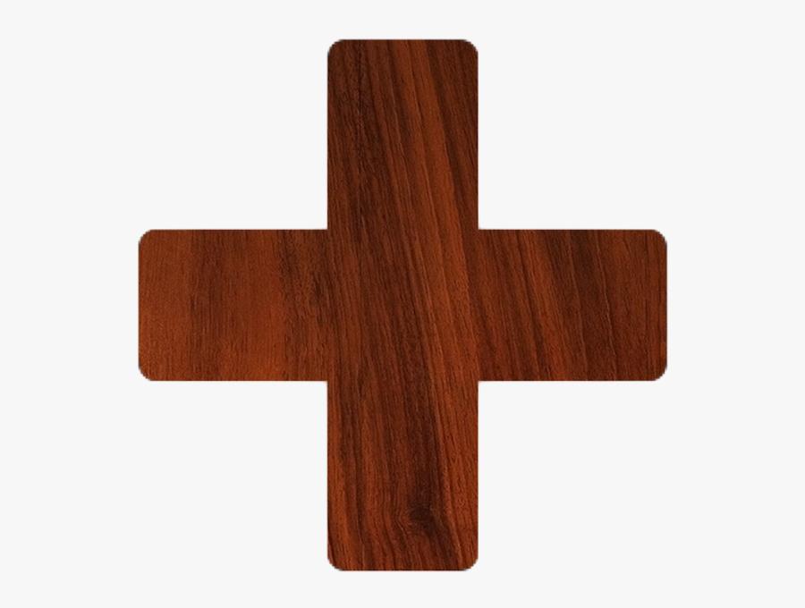 Transparent Cross - Wood Plus Sign Png, Transparent Clipart