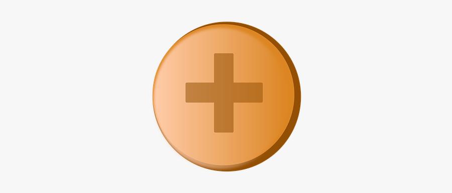 Plus Button, Button, Icon, Symbol, Plus, Add, Cross - Cross, Transparent Clipart