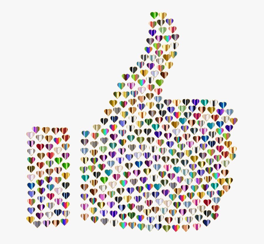 Thumb Signal Computer Icons Silhouette - Thumbs Up Background Png, Transparent Clipart