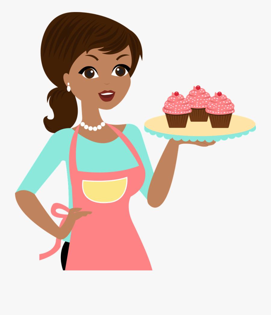 Chefe De Cozinha Mulher Em Desenho Png, Transparent Clipart
