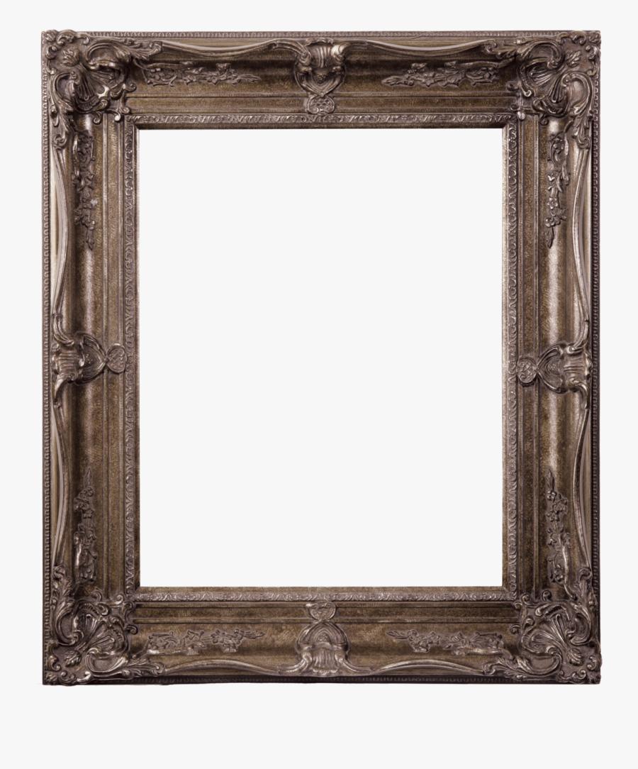 Transparent Antique Silver Frame Png - Vintage Wooden Frame Png, Transparent Clipart