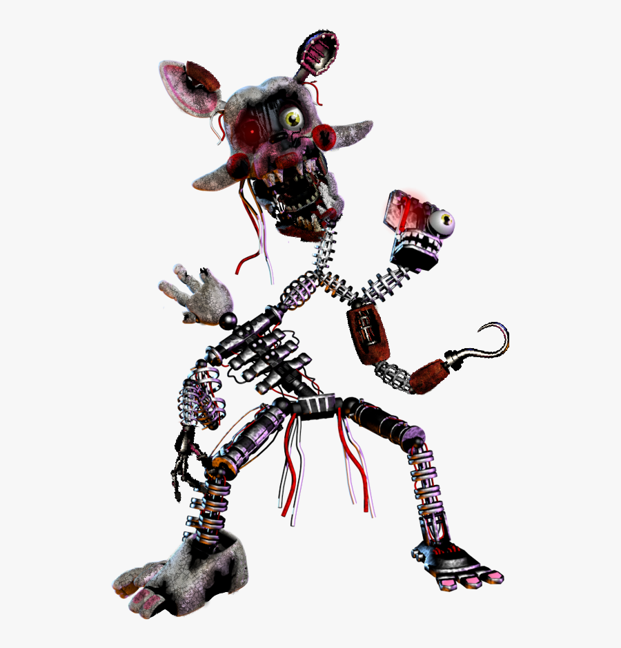 Hey Everyone Midnight Here I Made My Scrap Mangle , - Fnaf 1 2 3 4 5 6 Characters, Transparent Clipart