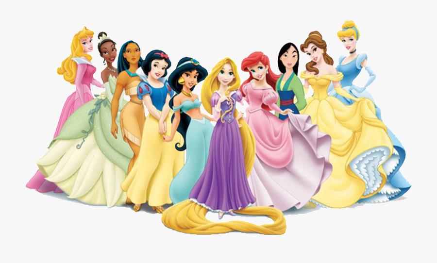 Rapunzel Belle Cinderella Princess Jasmine Beast - Transparent Background Disney Princesses Png, Transparent Clipart