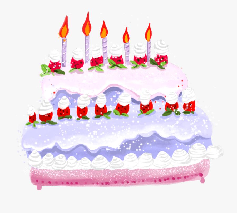 Clip Art Birthday Cake Illustration - Birthday Cake Illustration Png, Transparent Clipart
