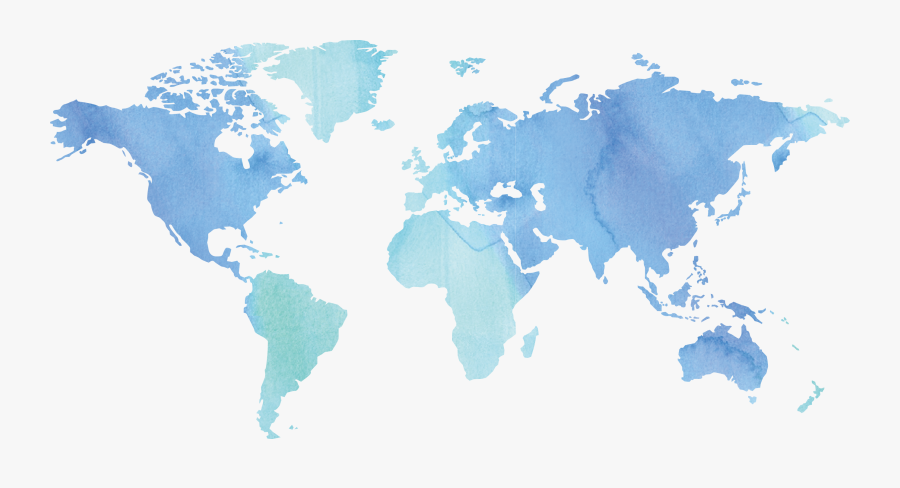 World Globe Ink Map Free Download Png Hd Clipart - World Map Watercolor Png, Transparent Clipart
