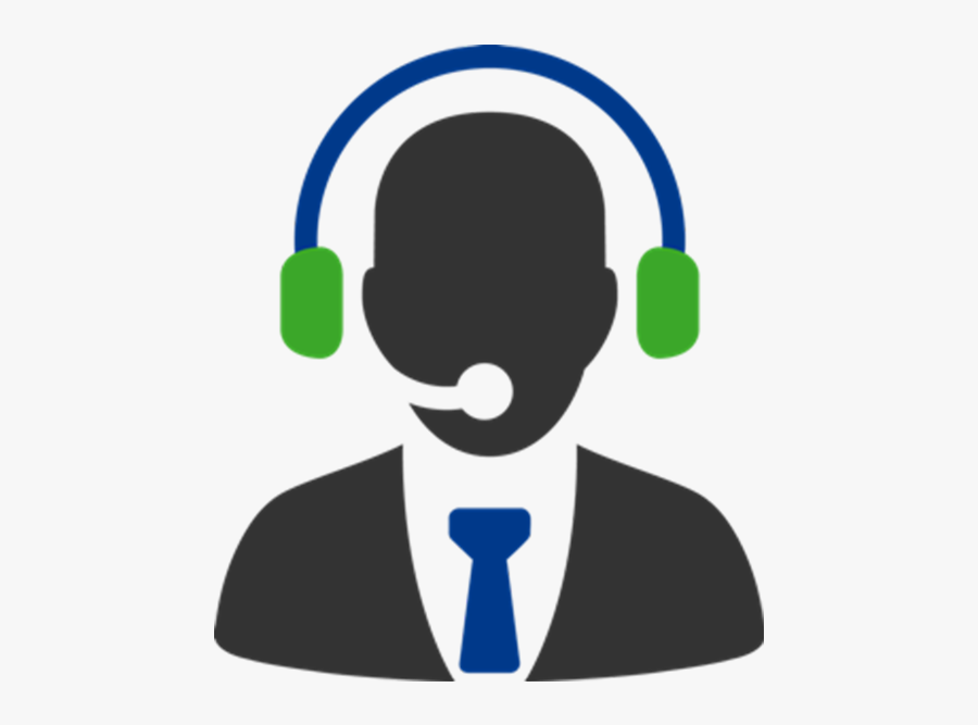 It Managed Services Systems - Call Center Headset Logo, Transparent Clipart