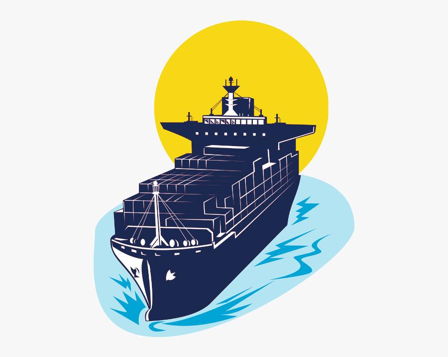 Transparent Items Clipart - Container Ship, Transparent Clipart