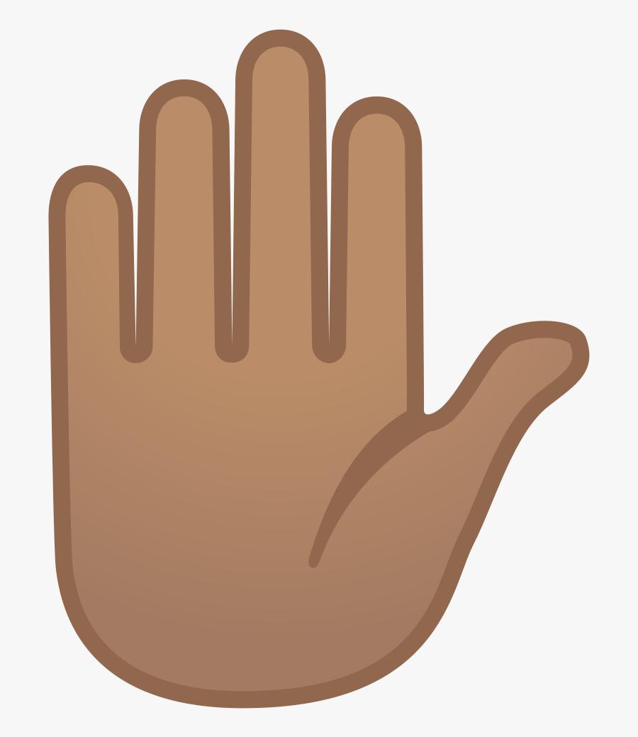 Hand Emoji Clipart Person Raising Both Hand In Celebration - Stop Hand Emoji, Transparent Clipart