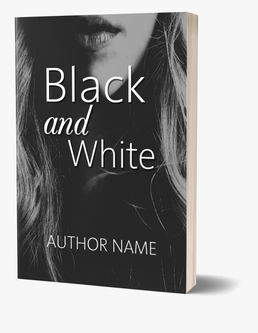 Free Template - Book Cover Template Black, Transparent Clipart