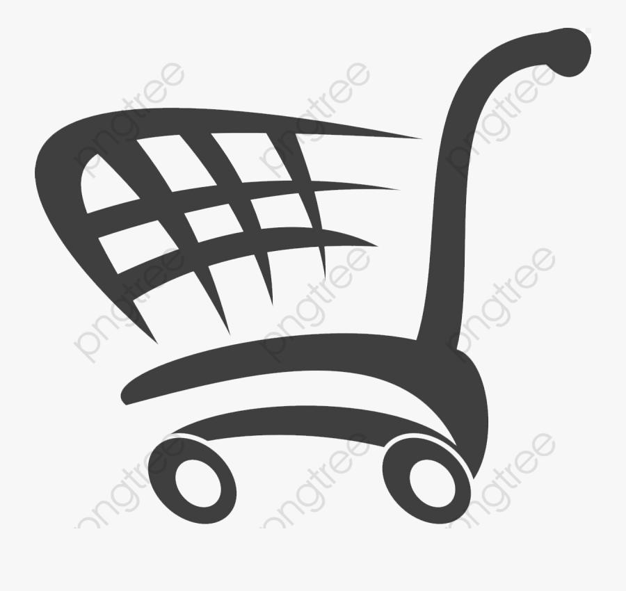 Shopping Cart Clipart Cartoon - Blue Shopping Cart Logo, Transparent Clipart