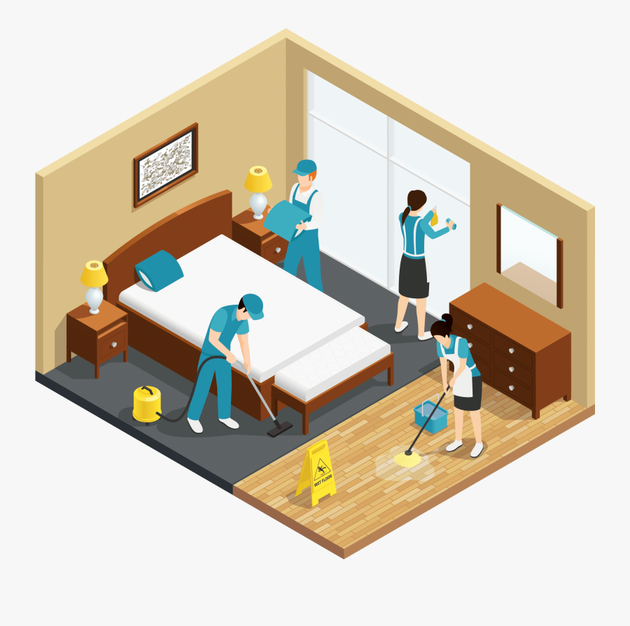 Property Management System - Hotel Housekeeping, Transparent Clipart