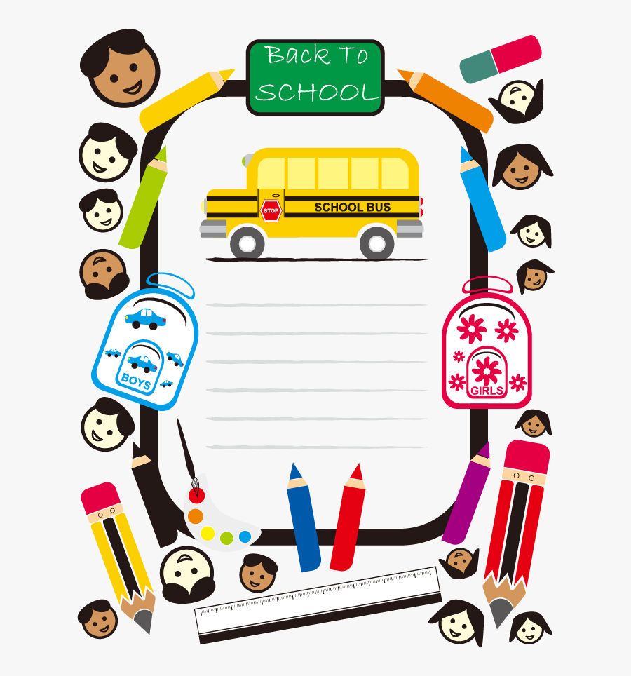 Happy school kids riding a school bus vector image on VectorStock   Kids  ride on, Cartoon school bus, Bus cartoon