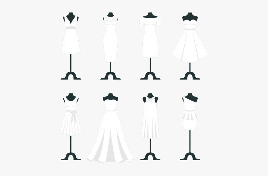 Bride White Invitation Dress Wedding Png Download Free - Bijoux Avec Robe De Mariée, Transparent Clipart