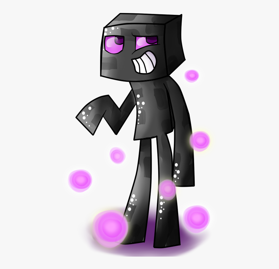 Enderman Drawing Minecraft Character Vector Black And ...