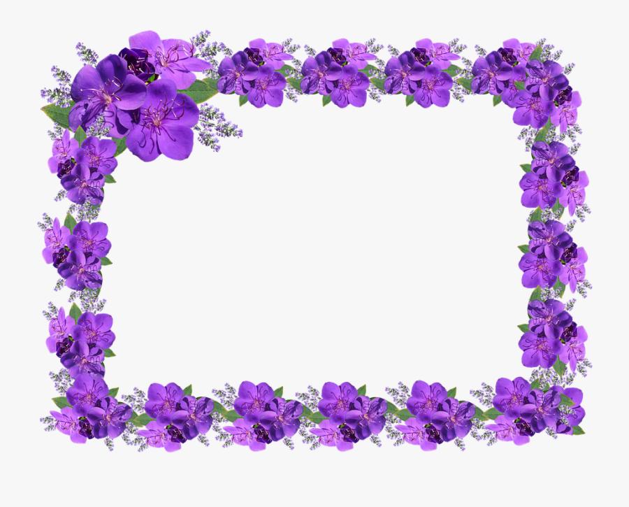 Bingkai Bunga Mawar Ungu