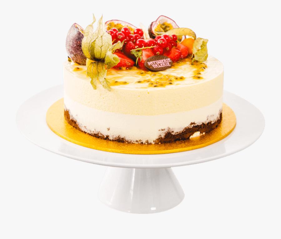 Transparent Fruit Cake Clipart - Passion Fruit Cake Decoration, Transparent Clipart
