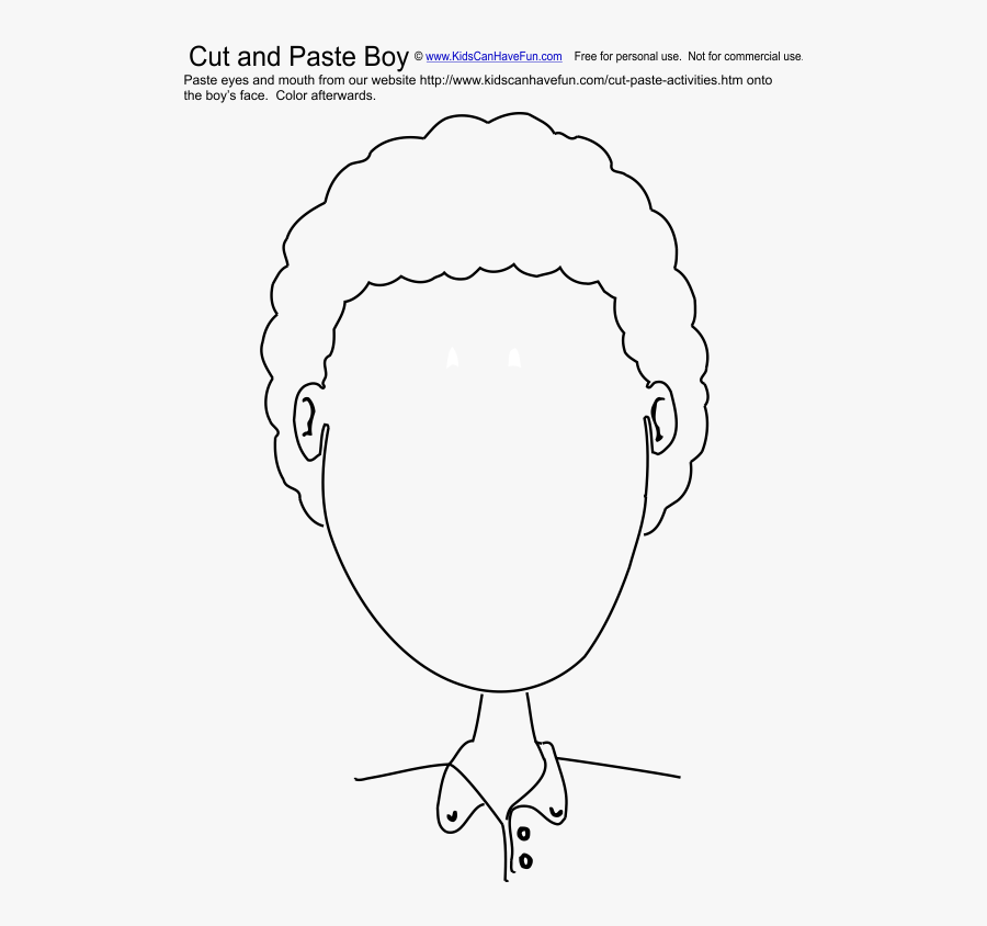 Cut Clipart Cut And Paste - Face Cut And Paste Worksheet, Transparent Clipart