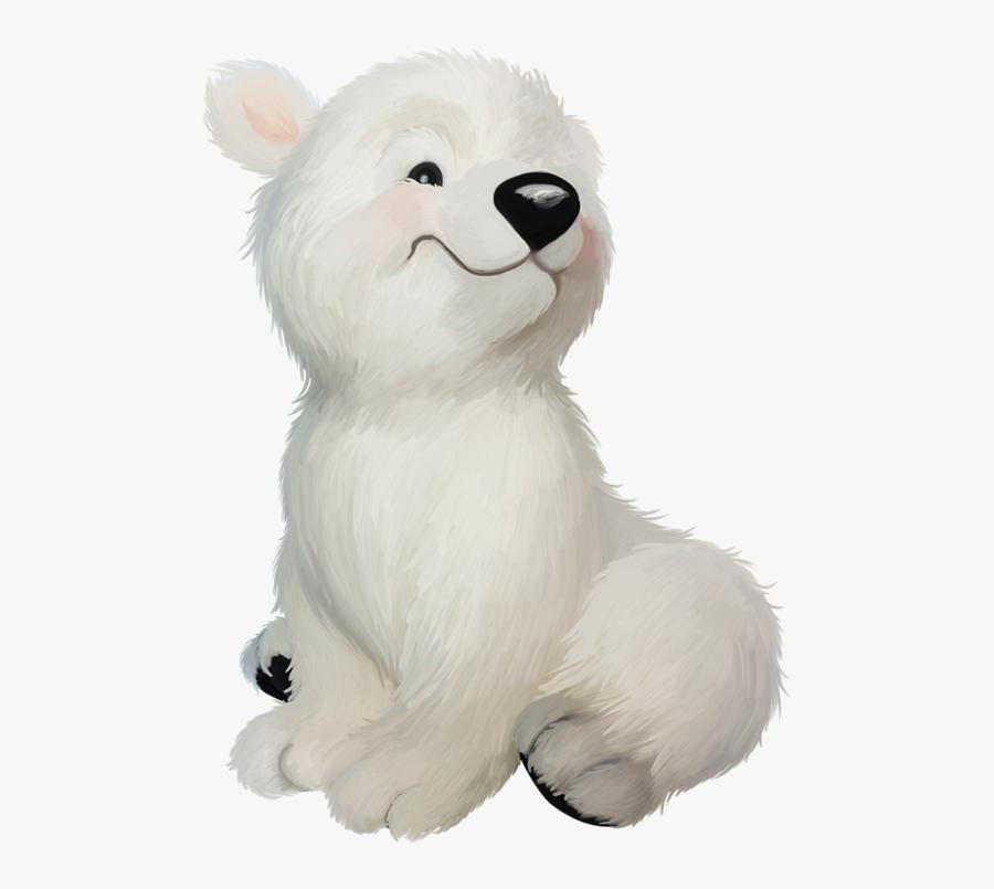 Polar Bear Clipart Cute Zoo Animal - Baby Polar Bears Clipart, Transparent Clipart