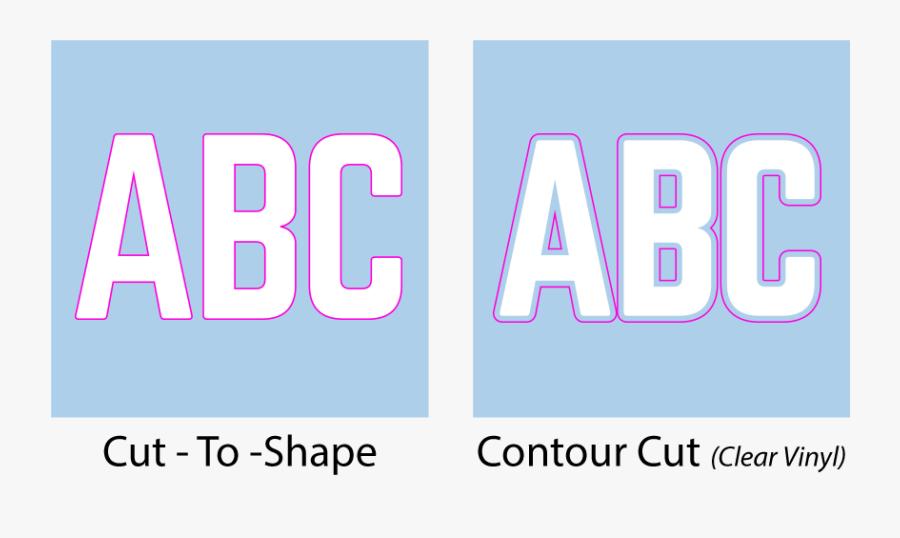 Vinyl Lettering Contour Cut - Carmine, Transparent Clipart