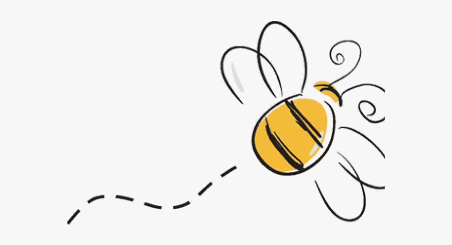 Cartoon Bumble Bee Flying, Transparent Clipart