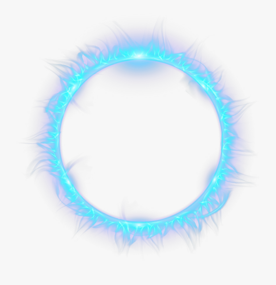 Blue Combustion Fire Light Flame Circle Clipart - Blue Fire Circle Png, Transparent Clipart