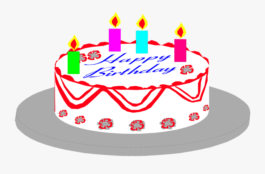 Transparent Birthday Cake Silhouette Png - Birthday Image With No Background, Transparent Clipart