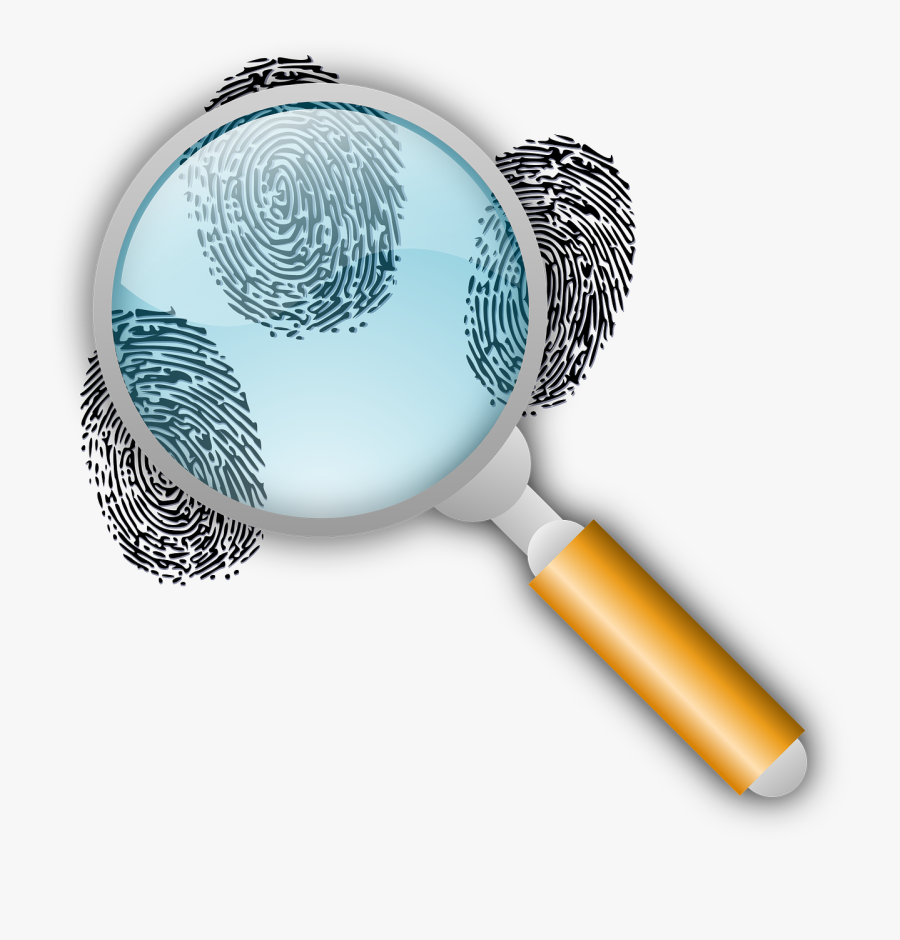 Beverly Hills Notary - Magnifying Glass With Fingerprints, Transparent Clipart