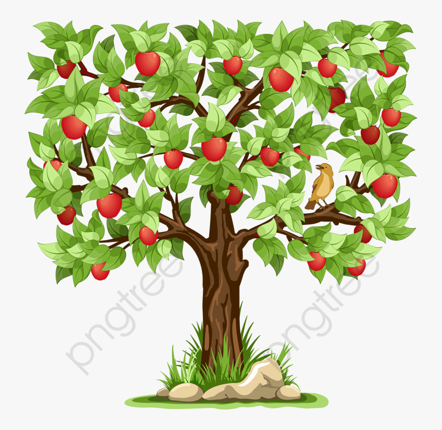 Transparent Apple Tree Clipart - Tree With Lots Of Fruit, Transparent Clipart