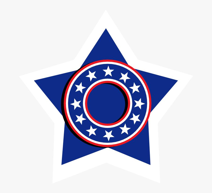 Blue Star Temporary Tattoo - Flag Of Communist Alaska, Transparent Clipart