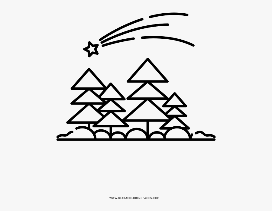 Shooting Star Coloring Page - Line Art, Transparent Clipart