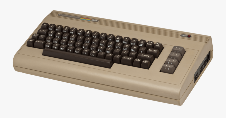 Commodore 64 Keyboard Clip Arts - 3rd Generation Of Computer Keyboard, Transparent Clipart