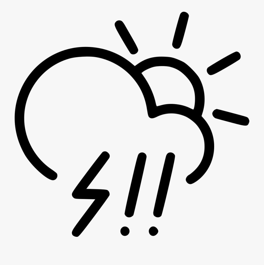Day Hail Storm Cloud Lightning Rain Sun - Clouds & Rain Clipart Black And White, Transparent Clipart